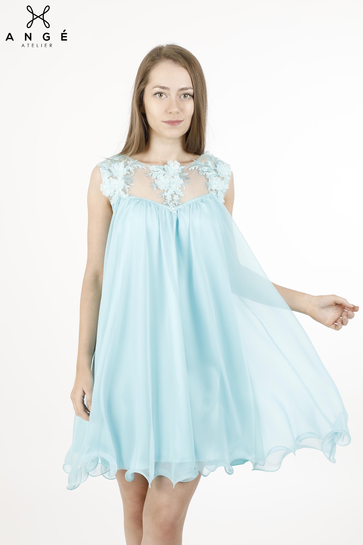 Rochie Baby Doll Gravide Elegante Dantela Flori Ange Atelier