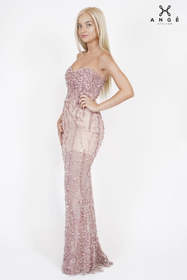 Rochie Sirena Lunga Dantela Pretioasa Couture Model Unicat Cununie AngeAtelier