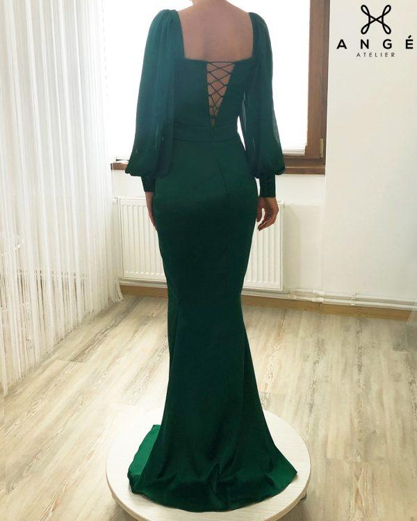 Rochie Lunga Nunta Toamna Model Corp Maneci Lungi Sirena Nasa Ange Atelier