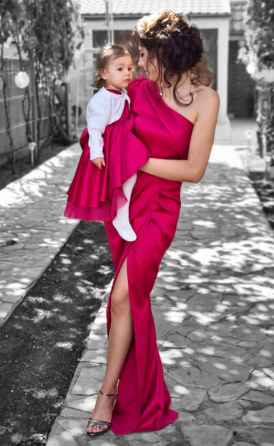 Rochii Set Mama Fiica Ocazie Botez Elegante AngeAtelier